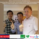 Kokleong Yap from Smart and Sangva Lim from ArrowDot|Cambodia Business Week | December 19, 2015