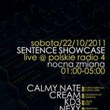 CALMY NATE - Live @ Sentence Showcase (Czworka Polskie Radio, 22.10.2011)