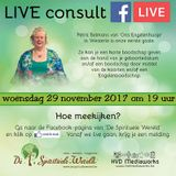 Live consult met Petra Belmans - 29-11-2017 - www.despirituelewereld.be
