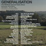 Generalisation - 9/11/18