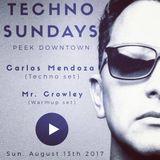 Techno Sundays w/ Carlos Mendoza at Peek Downtown (Live set)