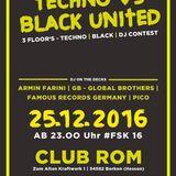 Pico live @ Techno vs. Black (Club Rom - Borken - 25.12.2016)