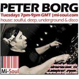 Peter Borg April 13th Mi-Soul.com House music radio show