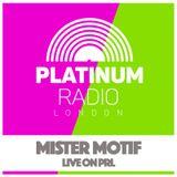 Mister Motif / Thursday 28th Jan 2016 @ 8pm - Recorded Live on PRLlive.com