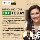 Before You Jump into Entrepreneurship