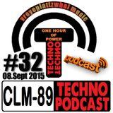 CLM-89 Techno PODCAST #32 (08-09-2015) by Zwaehnn Dhee [vreyeplattzwhal music]