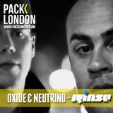 Oxide & Neutrino Live on Rinse FM @ Pack London - 19.04.13