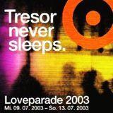 T.Rios / P.F.E.O.S. / O.Bondzio / J.Selway / F.Lorber @ Love Week 2003 - Tresor Berlin - 11.07.2003