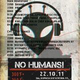 22.10.2011 NO HUMANS! (Ginger corporation) - mixed by Gunia (fullon-psytrance)