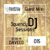 3quency DJ Sessions 015 - Guest Mix DAVEEO 1hr Live House Mix 15-08-19