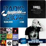 DEEPINSIDE RADIO SHOW 130 (Scott Diaz Artist of the week)