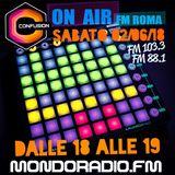 CONFUSION-ROMA  ON AIR FM 103.3 MONDORADIO - ROMA 2_06_2018