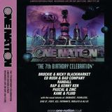 Brockie with Eksman, Herbzie & Fatman D at One Nation 7th Birthday (Nov 2000)