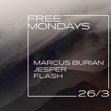 MARCUS BURIAN - FREE MONDAYS - ROXY PRAGUE - LIVE - 26.3. 2018