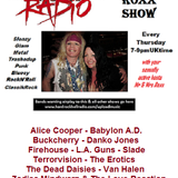 The ROXX Show at Hard Rock Hell Radio 7 june Babylon AD FireHouse LA Guns Slade Van Halen Queen