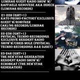 Physical Techno Recordings Exclusive Resident Radio Show w/Chris Mole (A&R) Kato Promo Factory