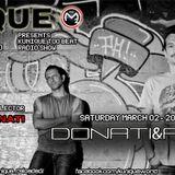 Kunique Too Beat Radio M20 Saturday March 02 Guest DONATI&AMATO