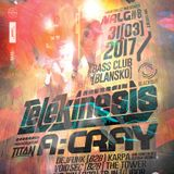 Telekinesis (Blackout Music) @ Neurology #8, Music Club BASS - Blansko, Czech Republic (31.03.2017)