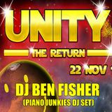DJ Ben Fisher @ UNITY / Stoke ( Piano Junkies DJ set ) Nov 2014