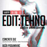 Boza Podunavac @ Basta SC (Edit:Tehno, Beograd) 10.08.2013