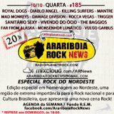 # 185 Arariboia Rock News - 10.10.2018 - Bandas do Nordeste