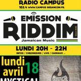 Emission RIDDIM 18 avril 2016 avec MYSTICAL FAYA