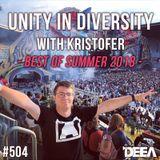 Kristofer - Unity in Diversity 504 (best of summer) @ Radio DEEA (08-09-2018)