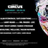 Sasha b2b Alan Fitzpatrick - Live at 16th Birthday Circus (Liverpool) - 29-Sep-2018