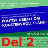 Politisk debatt om konstens roll i länet, del 2