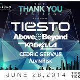 Tiesto - Live @ Thank You Festival, Merriweather Post Pavilion Columbia, USA - 26.06.2014