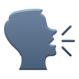 The Emoji Suite: Speaking Head in Silhouette