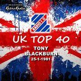 RADIO 1 TOP 40 - TONY BLACKBURN - 25-1-1981