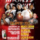 MIGHTY CROWN LS ADONAI@CLUB ORCHID APRIL 2013