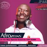 AFROZONS On Power 92.3F.M - DJ TopDonn Feb 26th Mix [50 Mins - Live In Studio]