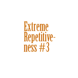 Extreme Repetitiveness #3 - Halftime drum
