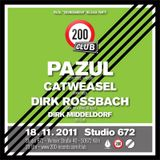 Dirk Middeldorf DJ Set @ 200 Club, Nov 18, 2011, Studio 672, Cologne