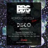 Disco Grooves By Romolo Fevola Live On Bass Body & Soul Radio - 18/10/2018