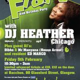 DJ Heather live at Fiasco's 2nd B'day in Glasgow on 10th Feb 2010