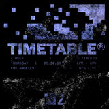 Timetable w/ 4THSEX & D Tiberio - 30th May 2019