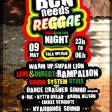 Supah Lion round @ Bcn Needs Reggae night (09-05-14, Sala Upload)