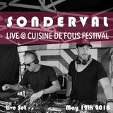 Sonderval   Live Set at Cuisine de Fous Festival   May 12th 2018