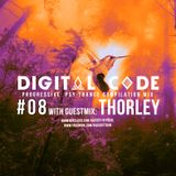 Kaiser T pres. DIGITAL CODE with guest mix THORLEY - Psy Trance Compilation Mix - Episode 08