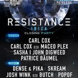 Carl Cox - Live @ Resistance Ibiza (Closing Party) - 11-SEP-2018