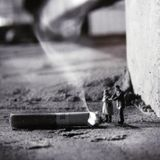 nicotine into the lungs [music in the ears]