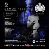 Damon Hess- Gaydio podcast aired 30TH March 2018- Live Evermix Stream from - Ministry of sound club