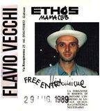 Flavio Vecchi @ Ethos Mama Club, Gabicce Mare - 03.1989