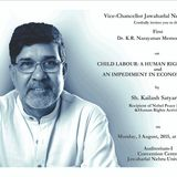 "Kailash Satyarthi on ""Child Labour: A Human Rights Violation & An Impediment in Economic Growth"""