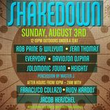 Rob Paine + Willyum Live @ 2nd St Festival SHAKEDOWN Sunday August 3rd, 2014