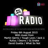 onelove radio 6 August 2015