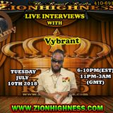 VYBRANT LIVE INTERVIEW WITH DJ JAMMY ON ZIONHIGHNESS RADIO 071018